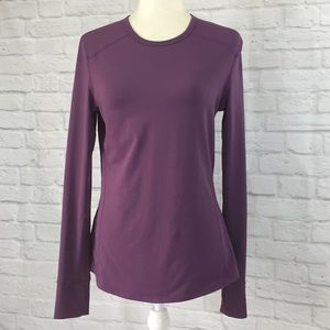 Fabletics plum Long sleeve crewneck medium top